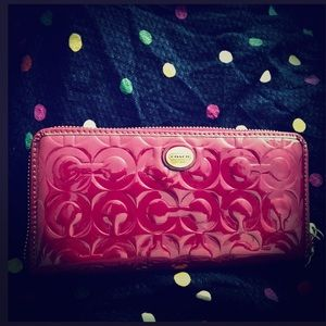 Authentic COACH Embossed Patent Leather Wallet